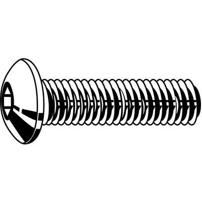 "#10-24 x 3/8"", Button, Socket Head Cap Screw, 18-8, Stainless Steel, Plain Finish, 100PK"