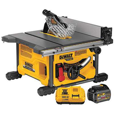 "8-1/4"" FLEXVOLT Cordless Table Saw, 60.0 Voltage, 5800 No Load RPM, Battery Included"