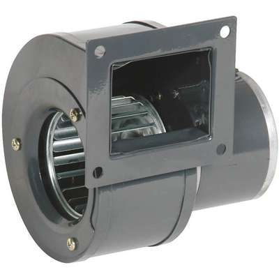 "Rectangular Permanent Split Capacitor OEM Specialty Blower, Flange: Yes, Wheel Dia: 3"", 115VAC"