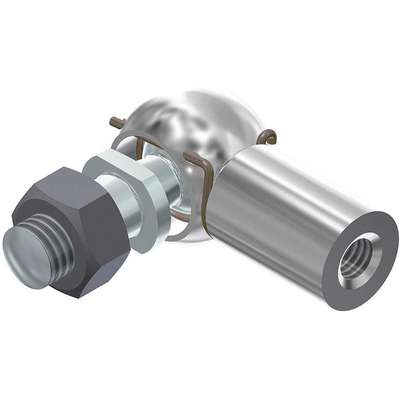 Zinc Plated Steel Elbow Joint; For Use With Gas Springs