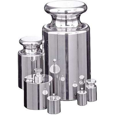 20g Calibration Weight, Cylinder Style, Class 2, Certificate of Accuracy, Stainless Steel