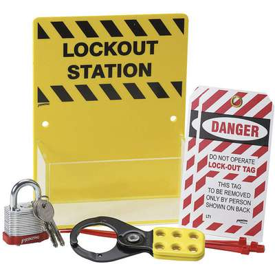 "Lockout Station, Filled, General Lockout/Tagout, 8"" x 6-1/4"""