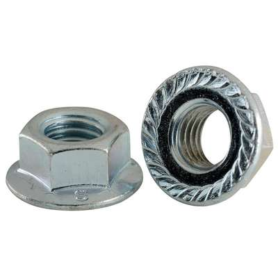 M10-1.25 Hex Flange Nuts JIS Class 10 Zinc 100