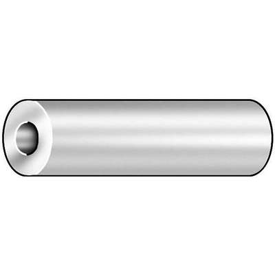 "1"" Low Carbon Steel Round Spacer with 5/16"" Screw Size, Chrome; PK5"