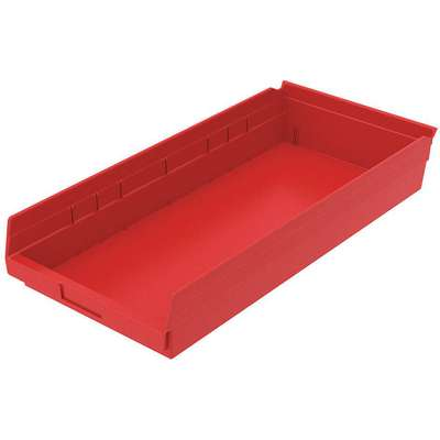 "Shelf Bin, Red, 4""H x 23-5/8""L x 11-1/8""W, 1EA"
