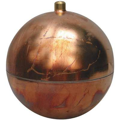 "Round Float Ball, 43.86 oz., 10"" dia., Copper"
