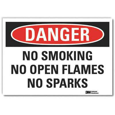 Vinyl Chemical Warning Sign with Danger Header, 10 in. H x 14 in. W