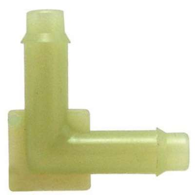 "Barbed Elbow, 90° Vacuum Connector, Nylon, 1/8"" x 3/16"" Barb Size"