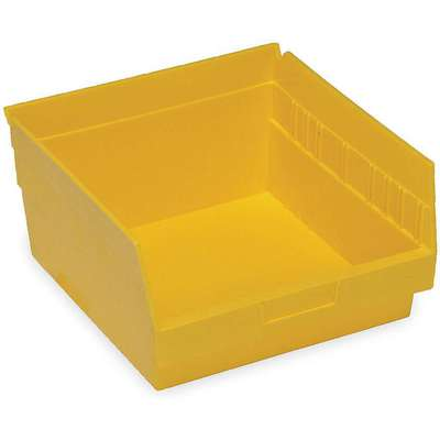 "Shelf Bin, Yellow, 6""H x 11-5/8""L x 11-1/8""W, 1EA"