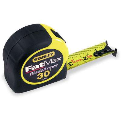 30 ft. Steel SAE Tape Measure, Black/Yellow