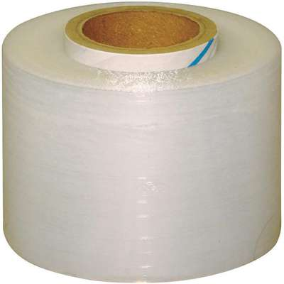 "Stretch Wrap, Hand Dispensed, 1-Side Cling, Standard, 3"" x 600 ft., Gauge: 120, Clear"