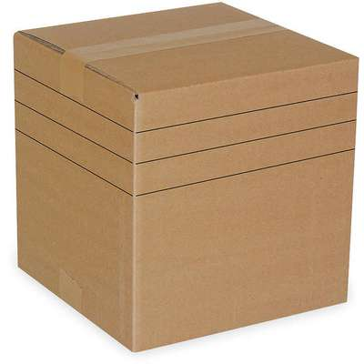 "Multidepth Shipping Carton, Brown, Inside Width 6"", Inside Length 6"", 65 lb., 1 EA"