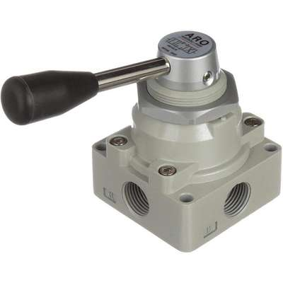 "1/2"" Manual Air Control Valve with 4-Way, 3-Position Air Valve Type"