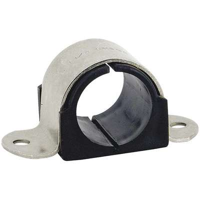 Surface Mounted 2 Hole Cushioned Clamp, Stainless Steel Type 304