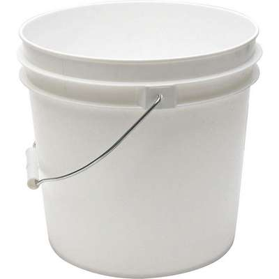 2.0 gal. High Density Polyethylene Round Pail, White