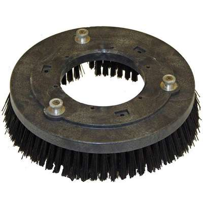 "20"" Round Cleaning, Scrubbing Rotary Brush for 20"" Machine Size, Black"
