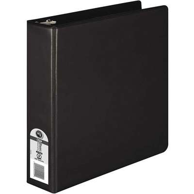 "Black 2"" 3-Ring Binder, 8-1/2"" x 11"" Sheet Size, Polypropylene, 450 Sheet Capacity - Binders"