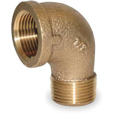"Red Brass Street Elbow, 90°, MNPT x FNPT, 3/4"" Pipe Size, 1 EA"