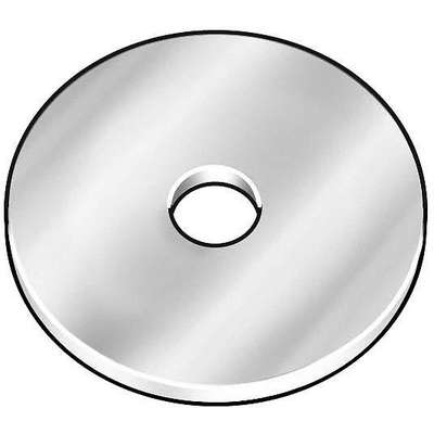 "5/8""x2-1/2"" O.D., Large OD Thick Flat Washer, Steel, Low Carbon, Zinc Plated, PK5"