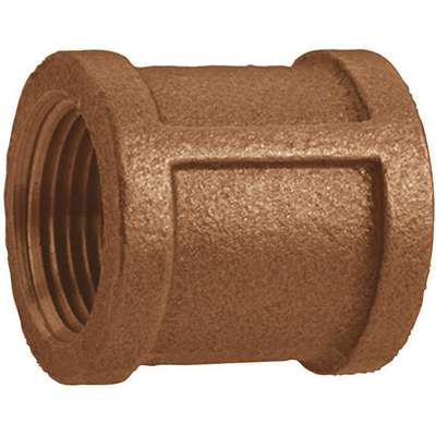 "Red Brass Coupling, FNPT, 3"" Pipe Size, 1 EA"