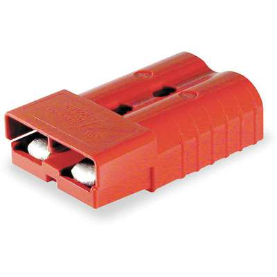 "Power Connector, Red, 1/0 Wire Size (AWG), 0.437"" Max. Wire Dia."