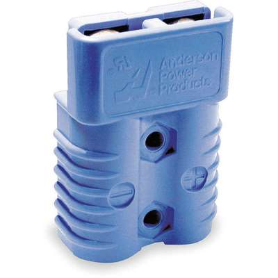 "Power Connector, Blue, 2/0 Wire Size (AWG), 0.484"" Max. Wire Dia."