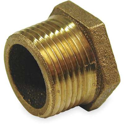 "Red Brass Hex Bushing, MNPT x FNPT, 1"" x 1/2"" Pipe Size, 1 EA"