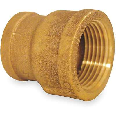 "Red Brass Reducing Coupling, FNPT, 2-1/2"" x 2"" Pipe Size, 1 EA"