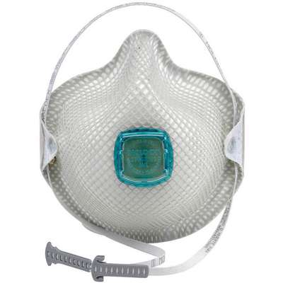 N100 Disposable Respirator, Molded, White, Mask Size: M/L, 5PK