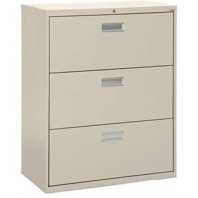 "36"" x 19-1/4"" x 40-7/8"" 3-Drawer 600 Series File Cabinet, Putty"