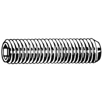 "1"" 18-8 Stainless Steel Socket Set Screw with Plain Finish; PK50"