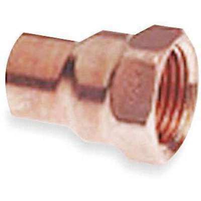 "Wrot Copper Adapter, C x FNPT Connection Type, 3/8"" Tube Size"