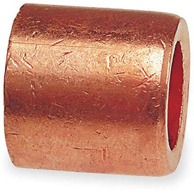 "Wrot Copper Flush Bushing, FTG x C Connection Type, 3/8"" x 1/4"" Tube Size"