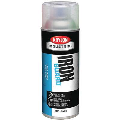 Iron Guard Spray Paint in High Gloss Clear for Masonry, Metal, Plaster, Plastic, Wood, 12 oz.