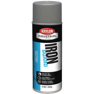 Iron Guard Spray Paint in Satin Satin Gray for Masonry, Metal, Plaster, Plastic, Wood, 12 oz.