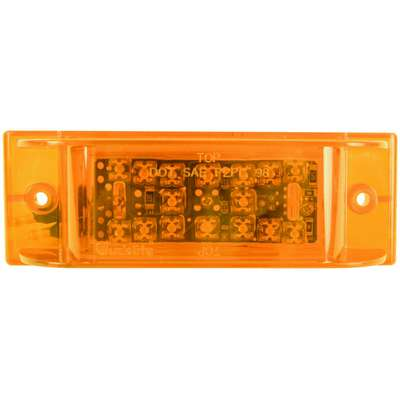 Truck-Lite® Clearance Marker Auxiliary Lamp, 21 Series, LED, Yellow Rectangular, 12 V, 21280