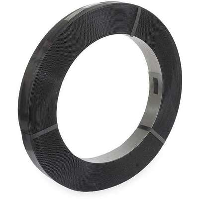"Steel Strapping, Steel, Black, 3/4"" Strapping Width, 0.025"" Strapping Thickness"