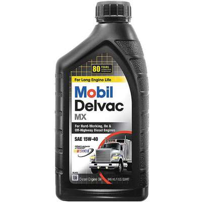 Conventional Diesel Engine Oil, 1 qt. Bottle, SAE Grade: 15W-40, Brown