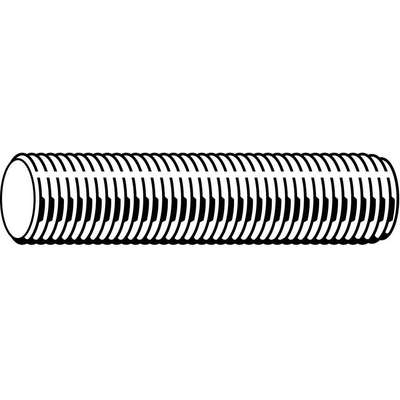 "1/2""-13x1 ft., Threaded Rod, Stainless Steel, 316, Plain"