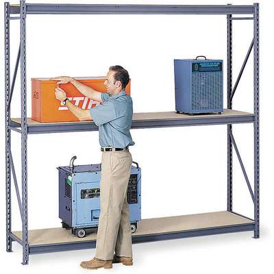 "Starter Bulk Storage Rack with Particle Board Decking and 3 Shelves, 48""W x 24""D x 72""H"