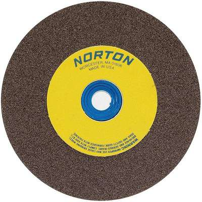 "Type 1 Aluminum Oxide Straight Grinding Wheel, 7"", 1"" Arbor Hole Size, 36 Grit, 1"" Thickness"