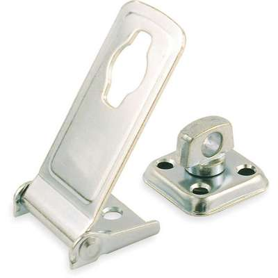 "Conventional Rotating Eye Hasp, 1-3/4""H x 1-1/2""W x 6""L, Zinc Plated Finish"