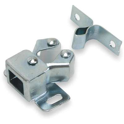 "Grab Non-locking Grab Catch, 1-1/4""H x 1-3/32""W, Bright Zinc Finish"