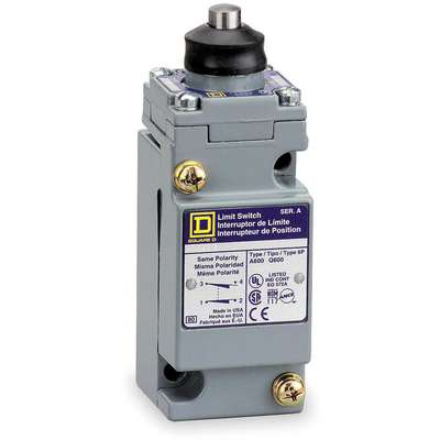 Rod, Adjustable Push Heavy Duty Limit Switch; Location: Top, Contact Form: 1NC/1NO, Vertical Movemen