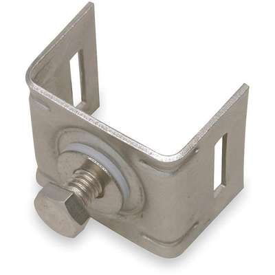 Light Duty,  Stainless Steel Banding Brackets,  Fits Strap Width 1/2 in,  Flat Seal Surface Type
