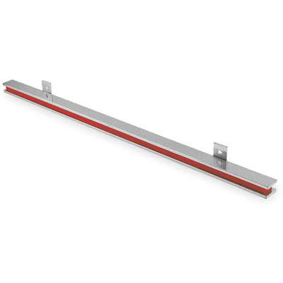 "Nickel and Red Tool Holding Magnet, Steel, Ceramic Magnet, 24"" Length, 1-1/8"" Width"