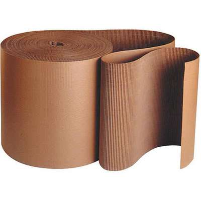 "Kraft Brown Corrugated Roll, 250 ft. Length, 3"" Width"