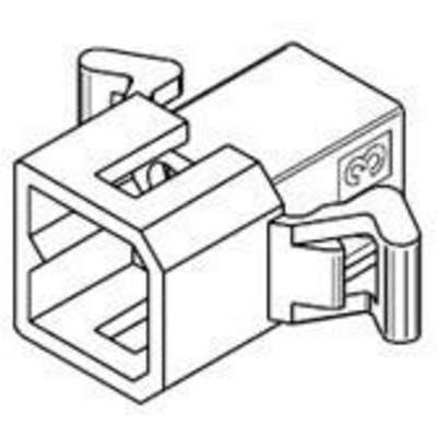 Pin and Socket Plug Housing, 4 Circuits, Dual Row, without Mounting Ears, Natural, 2.36mm Diameter Standard .093""