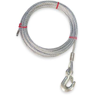 50 ft. Galvanized Steel Winch Cable with 1120 lb. Working Load Limit