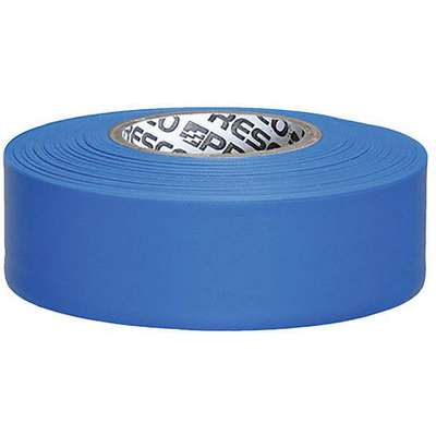 Presco Products Co. PVC Taffeta Flagging Tape; 300 ft. L x 1-3/16 in. W, 2.5 mil Thick, Blue